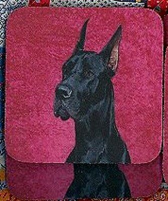 GREAT DANE - BLACK Rubber Backed Coasters #0599