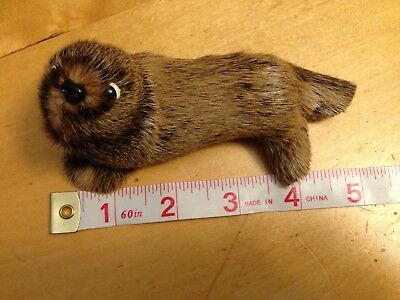 Seal Otter Sea Lion Real Fur Toy Animal Figurine Collectible