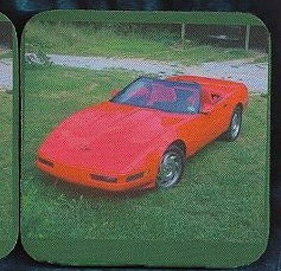 CORVETTE - 1996 Red Rubber Backed Coasters #1048