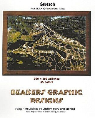 GIRAFFES * Counted Cross Stitch detailed #0368