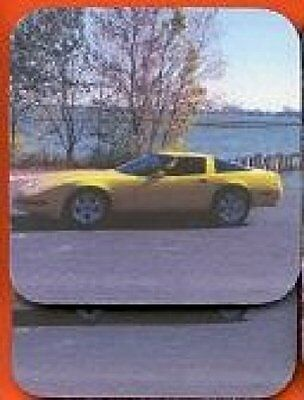 CORVETTE - 1995 Yellow Rubber Backed Coasters #0417