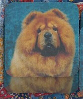 CHOW CHOW RED Rubber Backed Coasters #0909