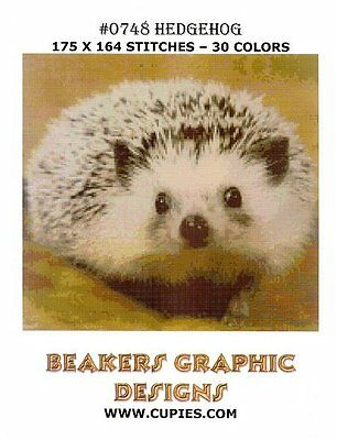 HEDGEHOG Counted Cross Stitch detailed #0748