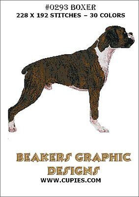 BOXER Counted Cross Stitch detailed #0293