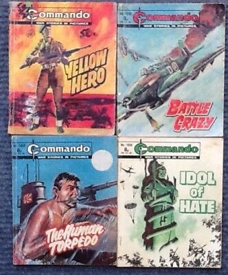 commando comics bundle of 8 approx 1977