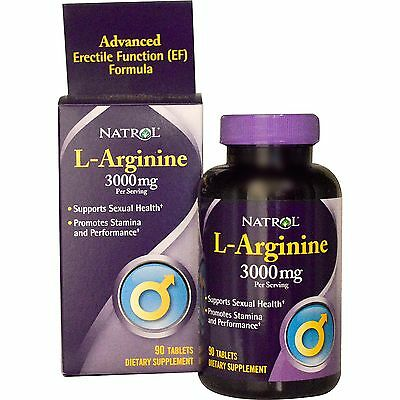 L-Arginine - Natrol, 3000mg, 90 Tablets, Sexual Health, Stamina & Performance