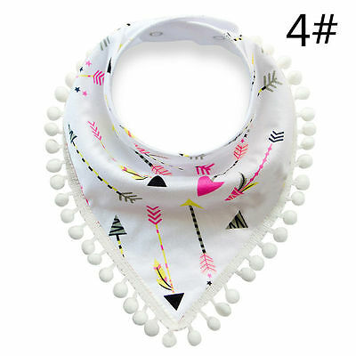 Charm Baby Toddler Cotton Bibs Saliva Towel Double Layer Triangular Scarfs Gifts