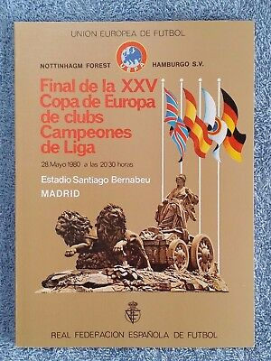 1980 - EUROPEAN CUP FINAL PROGRAMME - NOTTS FOREST v HAMBURG