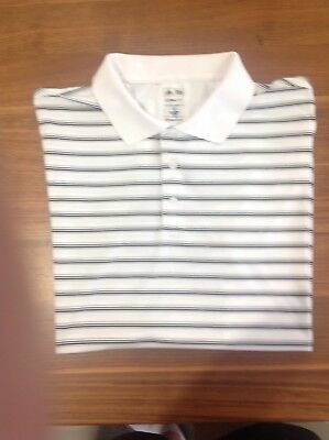 Adidas Golf Polo Shirt Size Large Black and White in Excellent Condition