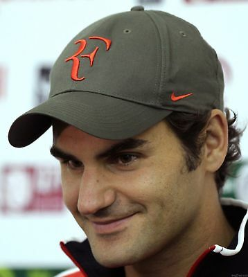 New RF Roger Federer Tennis Hat Caps GRAY/ RED Litmited Edition Rare
