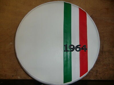 Italian Stripe White (Any Year) Scooter Wheel Cover
