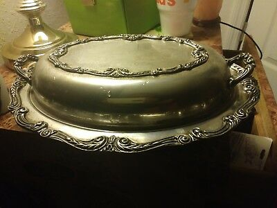 English co. silver plated dish