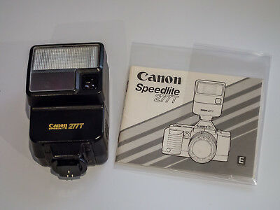 Canon Speedlite 277T Flash for A-1 AE-1 T70 with Genuine Instruction Manual
