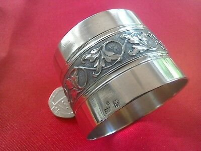 Superb quality vintage French silver plate napkin ring.