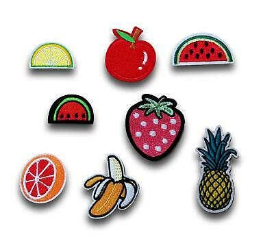 Fruit Strawberry Banana Pineapple Apple Melon Iron / Sew On Patch Applique UK