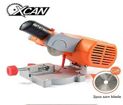 Mini Bench Top miter cut-off Saw+two saw blades for metalwork fast free shipping