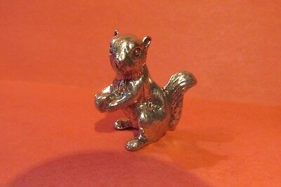 Pewter Squirrel Figurine