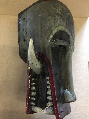 Large Old Antique African Firespitter Mask