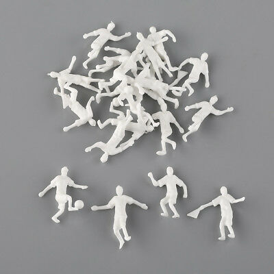 New White 20 pcs 1:75 OO Scale Football Soccer Player People Unpainted Figures