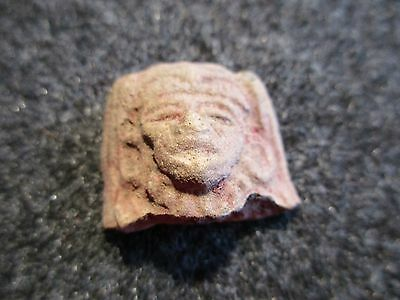 Aztec Terra Cotta Sculpture, Pre Columbian Indian Relic, Artifact,   #du-01423B