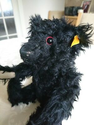 Steiff 1912 Titanic mourning bear in black mohair