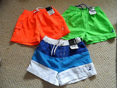 Bnwt new 3 pairs of boys swimming shorts age 18-24 months