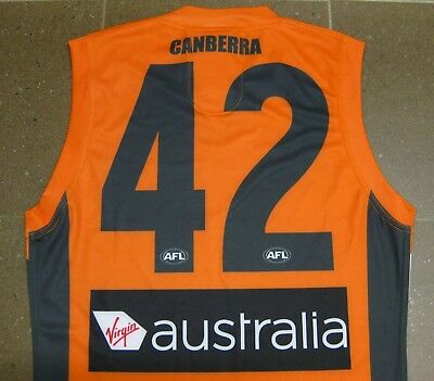 *rare* ! New Afl Gws Giants Guernsey Canberra Player Issued No. 42 - Size: S