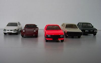 Set of 5 HO-scale Model Cars by Herpa - Lot #9