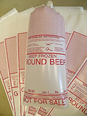 Ground Meat Bags (GROUND BEEF) 1 pound bag; 2 mil polyethylene 25 count