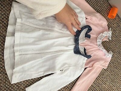 Set Of 2 Baby Girl Long Sleeve Frill Tops 12-18