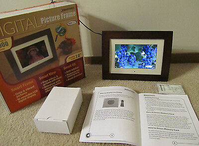 """Smart Parts 7"""" Digital Picture Frame & Videos New Though Opened *Tested*USB Port"""