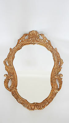 Antique French mirror  rocaille style stucco year 1940