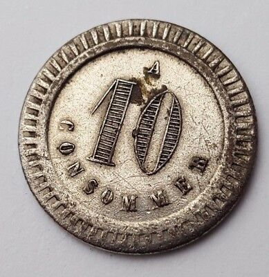 France - A 10 cents - Consommer - Token / Coin