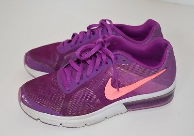 Nike Girls AIR MAX SEQUENT Athletic Purple Running Tennis Shoes, Size 4 Youth