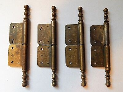 Lot of 4 Hinge Antique/Vintage French  Brass,Charniere, Furniture, Cabinet, Door