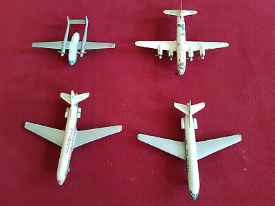 Sehr selten! 4 CIJ Metall Flugzeugmodelle Made in France
