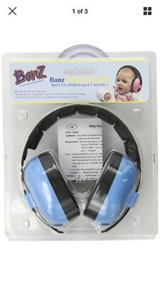 Newborn Hearing Protection Earmuff, Blue, 3 months+, Baby Banz Baby-Boys, New