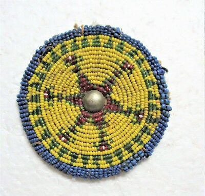 Plains Native American Beaded Medallion Decoration For Clothing Or Horse Halter