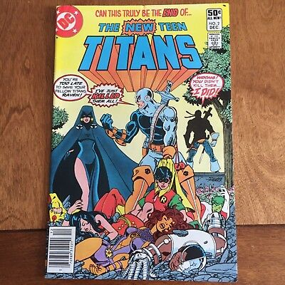 The New Teen Titans #2 (Dec 1980, DC)  -  1st Deathstroke! NEAR MINT CONDITION
