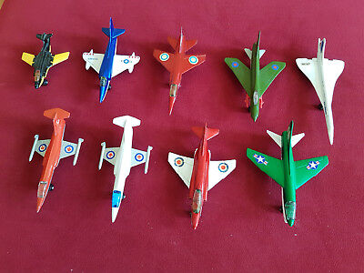 8 Matchbox Skybusters Flugzeugmodelle + 1 Jet S2, alle Made in England