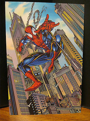 Spider-Man 1996 Lithograph Signed Mark Bagley MBNA MasterCard Promotion & insert