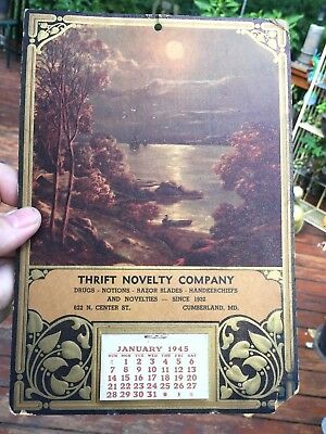 Vintage 1945 calendar for Thrift Novelty company in Cumberland MD.
