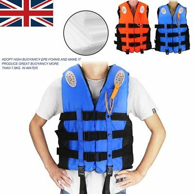 Life Jacket Safe Vest Buoyancy Aid With Whistle Reflective For Swimming Boating