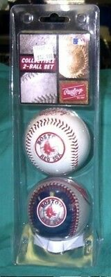 Boston Red Sox 2- Ball Gift Set. Rawlings. Shipping is Free