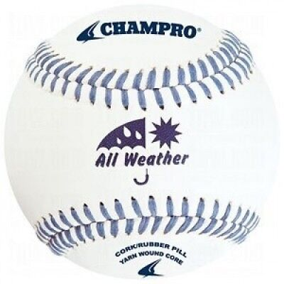Champro All Weather Baseball (White, 22.9cm ). Delivery is Free