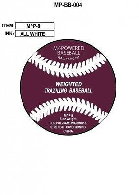 Mpowered Heavy Training And Strength Baseball, 240ml. Mpowered Baseball
