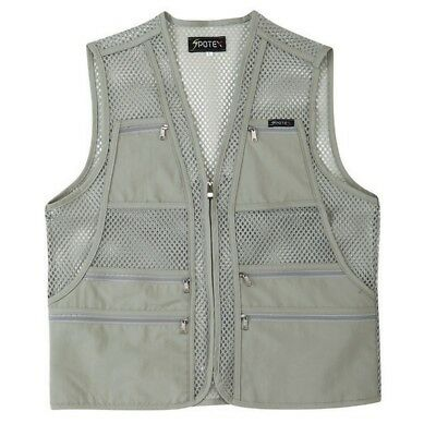 (S US(L tag Asian), Beige) - myglory77mall Men's Multi Pockets Fly Fishing
