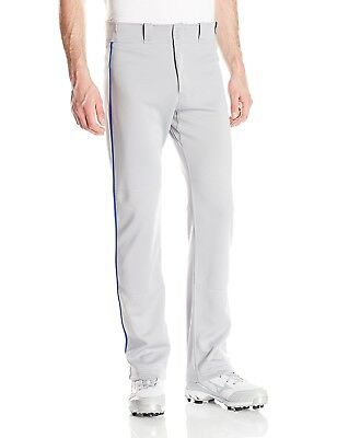 (XX-Large, Grey/Royal) - Easton Men's Mako II Piped Pants. Shipping is Free