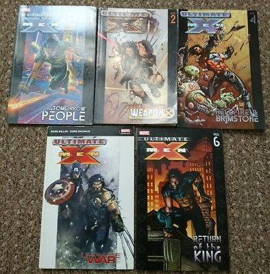 Marvel Comics Ultimate X-Men Vol 1 2 4 Ultimate War 6 Graphic Novels X Men Lot