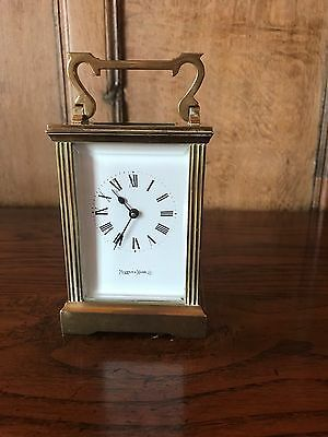 Antique Mappin & Webb Brass Carriage Clock